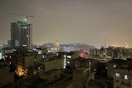 نمونهعکس دوربین اصلی آیفون ۱۲ پرو مکس در تاریکی - ساختمانهای خیابان جردن تهران