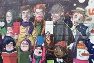 نمونه عکس دوربین تلهفوتو آیفون ۱۲ پرو مکس در طول روز - نگارهای از شخصیتهای کارتونی در باغ کتاب تهران