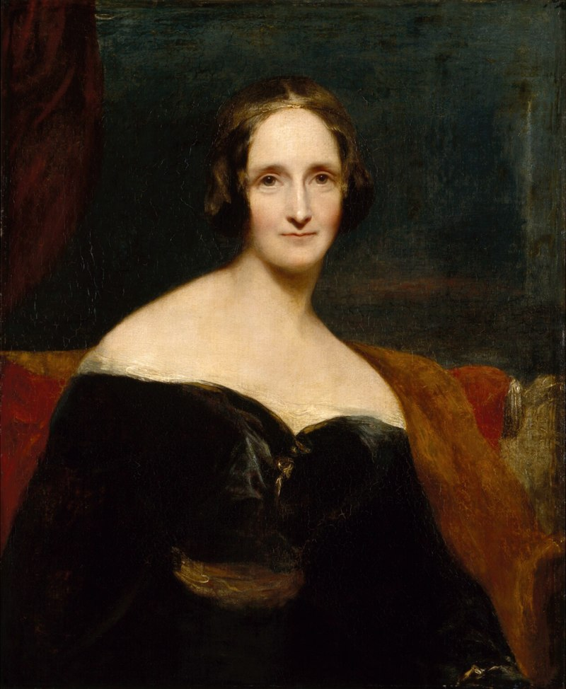 Portrait of Mary Shelley, by Richard Rutwell