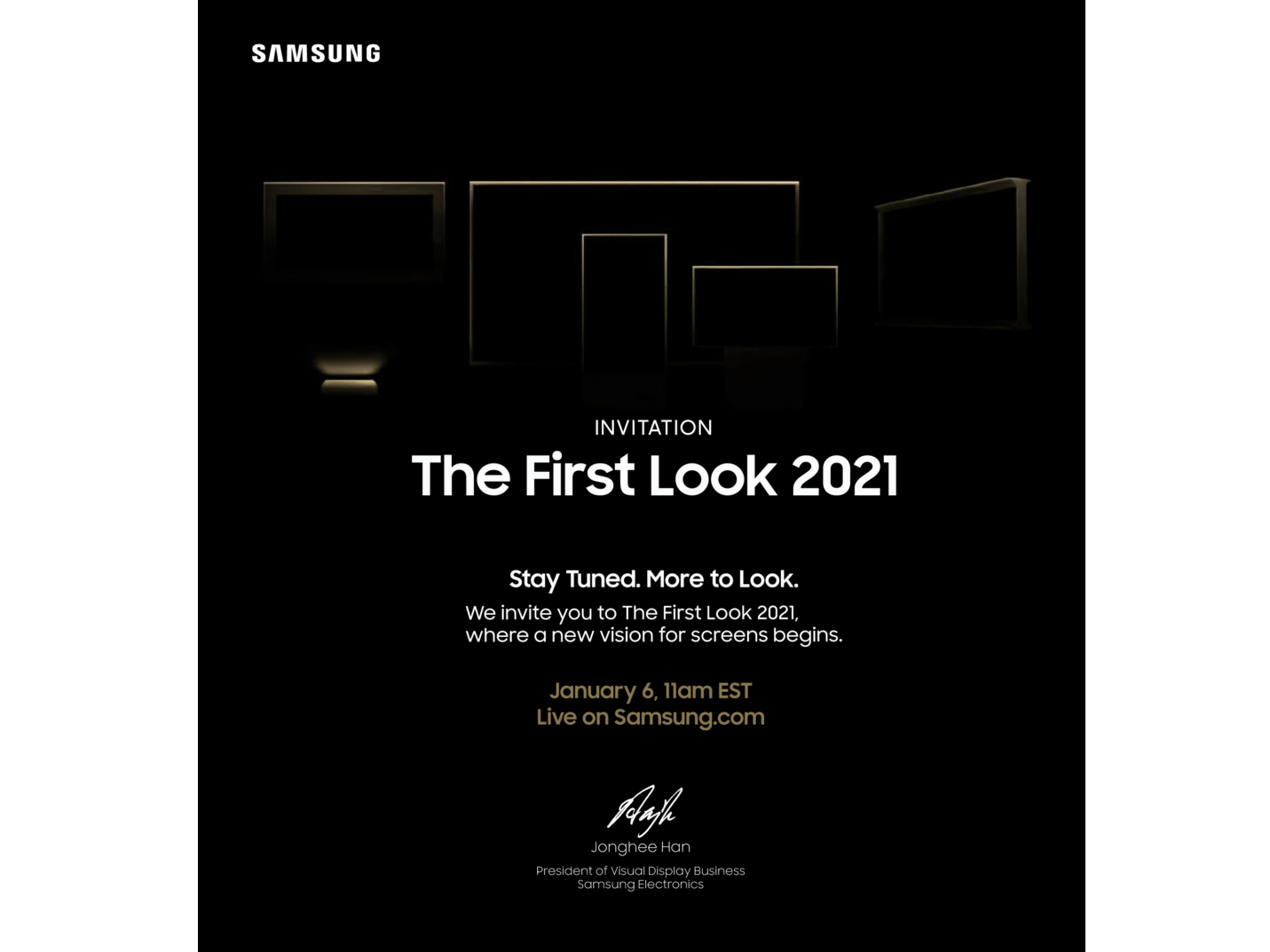 Samsung First Look 2021 event poster