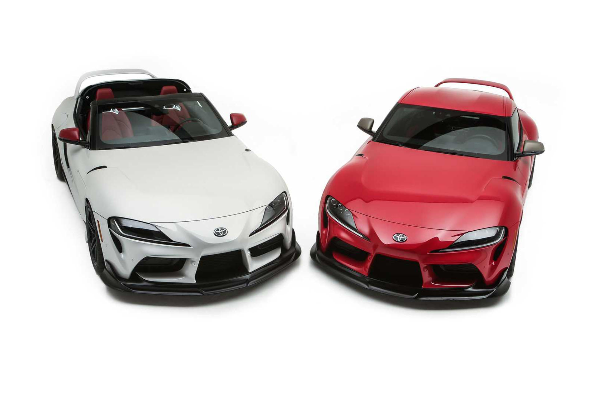Toyota GR Supra Sport Top concept car / Toyota GR Supra Sport Top white with red version of Heritage