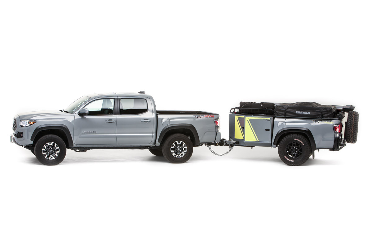 Toyota Tacoma equipped with a trailer