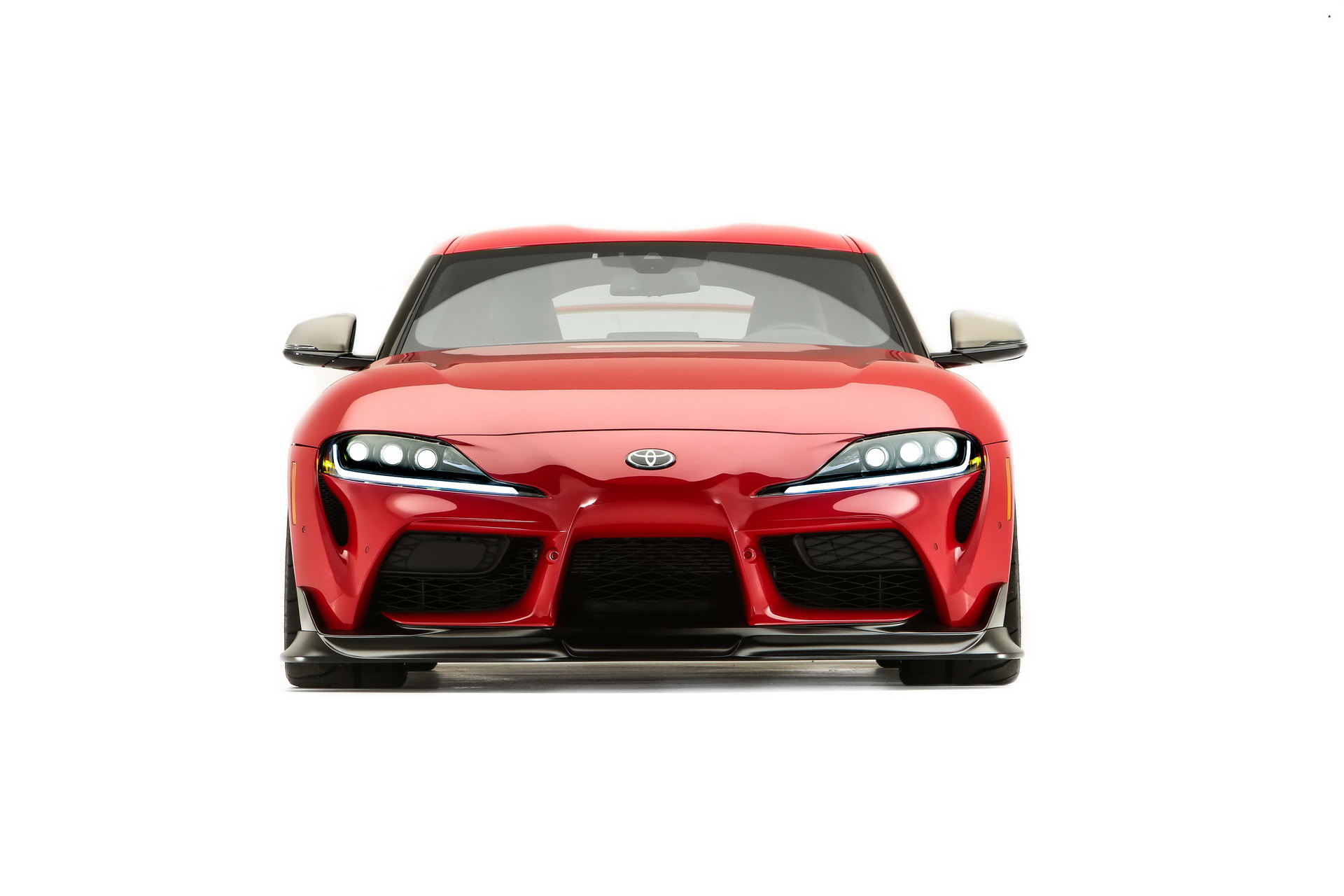 Toyota GR Supra Sport Heritage Edition front view / Toyota GR Supra Sport Heritage Edition red