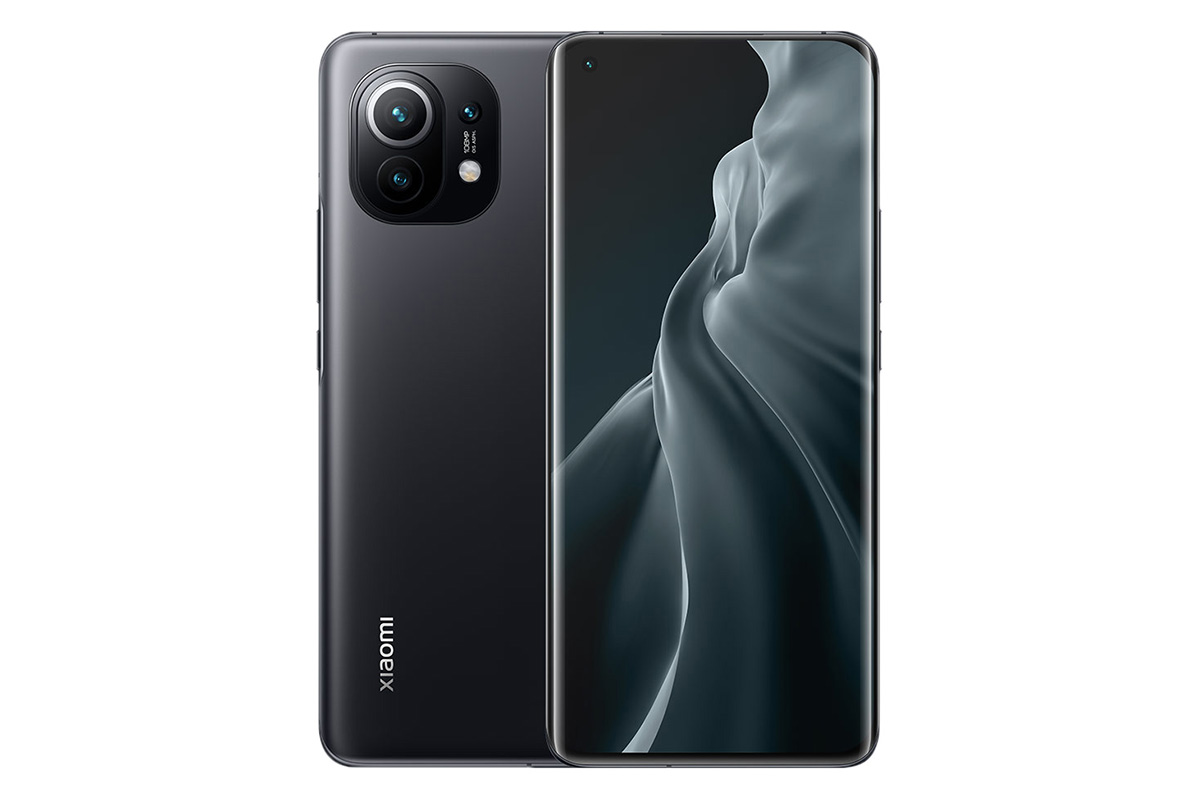 The back and front of the Xiaomi phone are 11 black