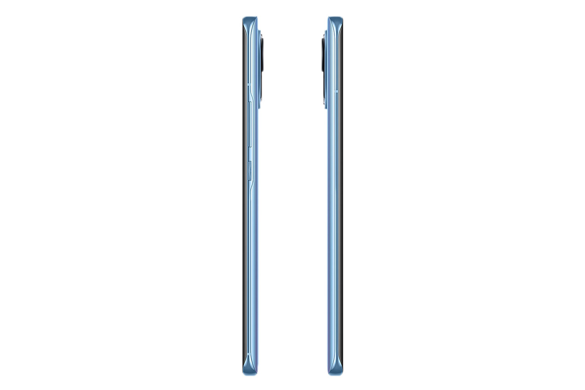 The side view of the Xiaomi phone is 11 blue