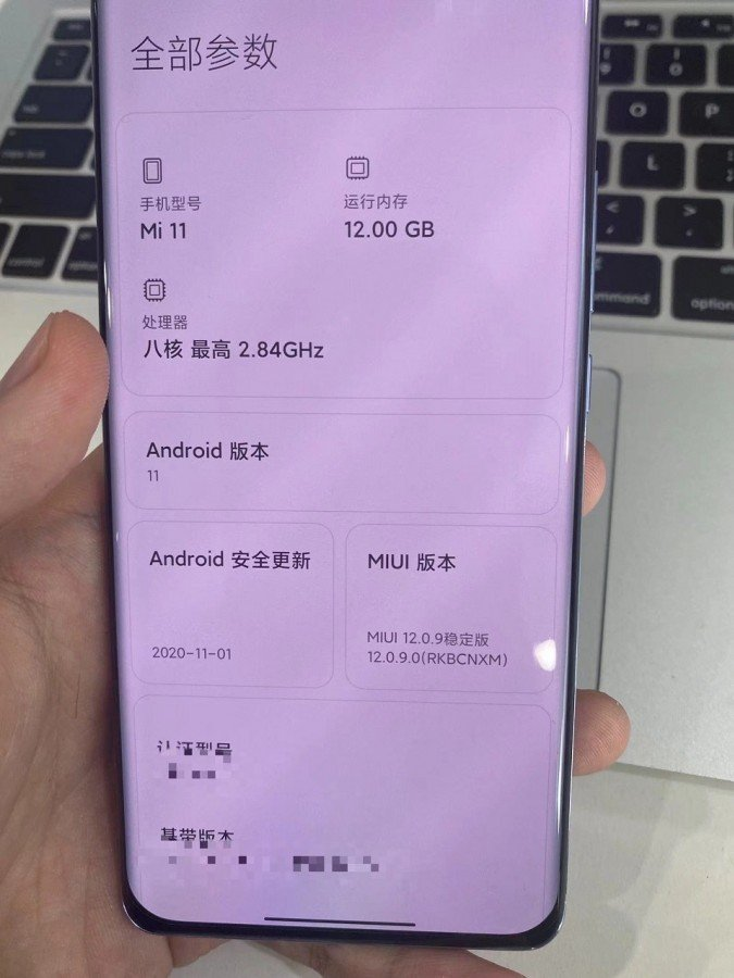 Real image of Xiaomi front end May 11