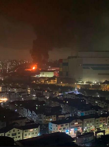 آتش سوزی کارخانه سامسونگ