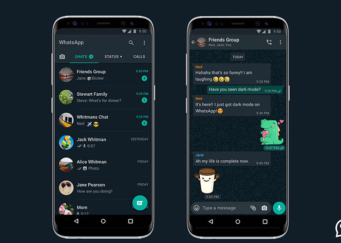 حالت تاریک واتساپ / WhatsApp Dark Mode