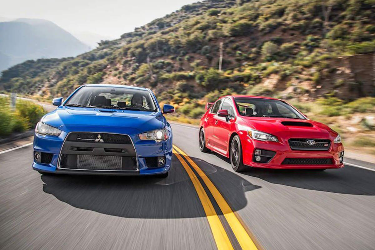 Mitsubishi Lancer Evolution vs. Subaru WRX STI