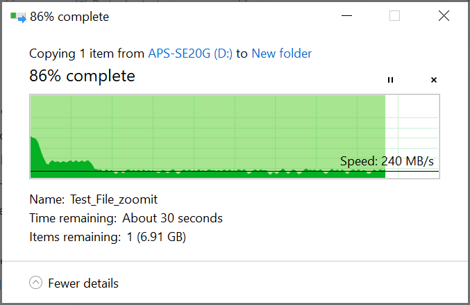 آزمایش انتقال فایل ۵۲ گیگابایتی - Pioneer SE20G
