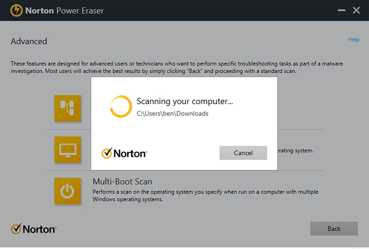 آنتی ویروس Norton Power Eraser