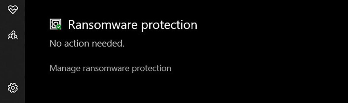 Ransomware Protection ویندوز ۱۰