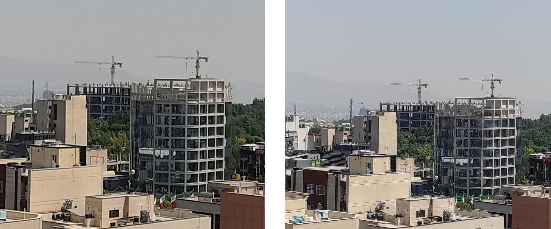 نمونه عکس کراپشده از دوربین اصلی ردمی نوت 9 اس و ردمی نوت 9 پرو - ساختمان و فضای سبز