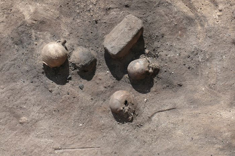 the victims of an ancient epidemic in the city of Thebes in Egypt