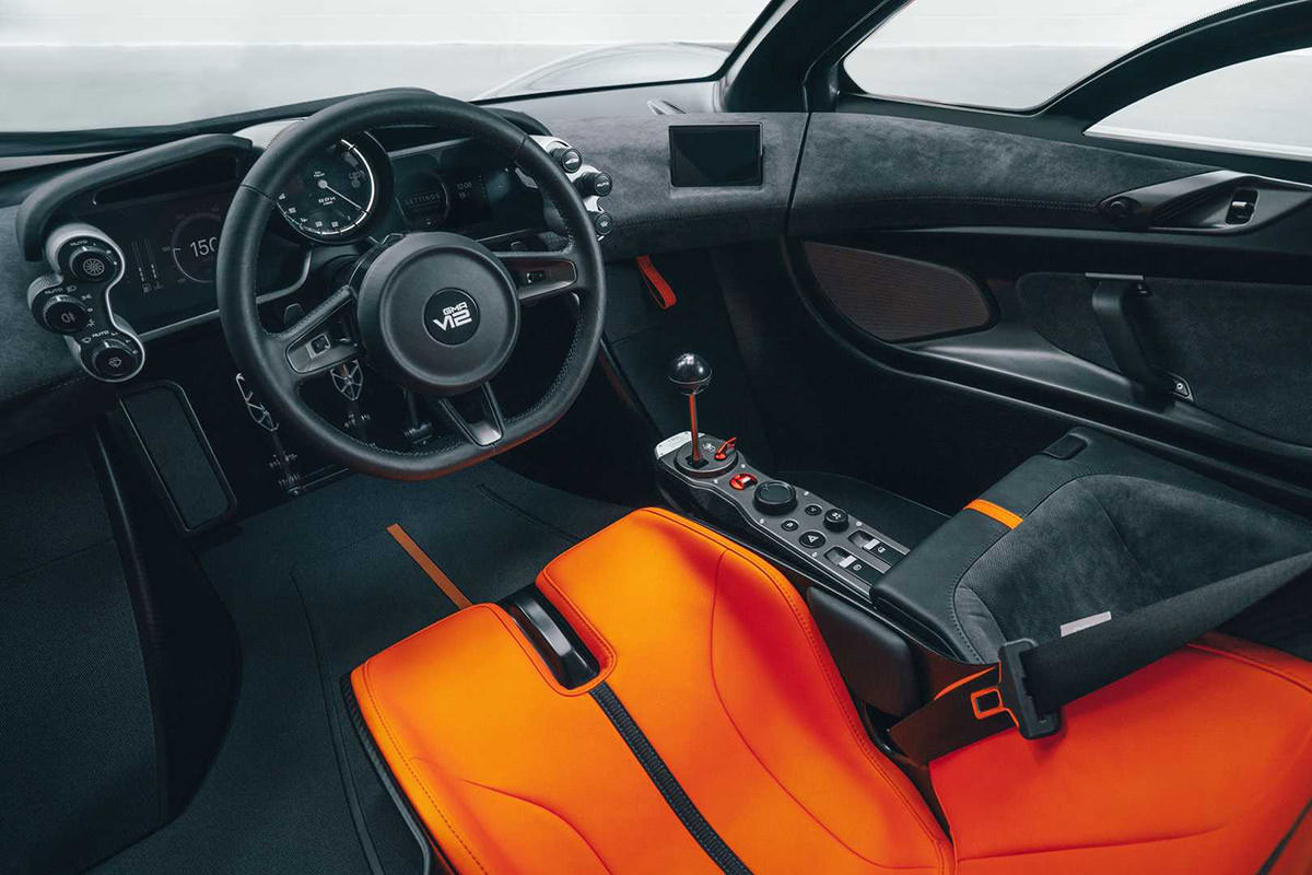 کابین ابرخودرو گوردون موری / Gordon Murray T.50 hypercar