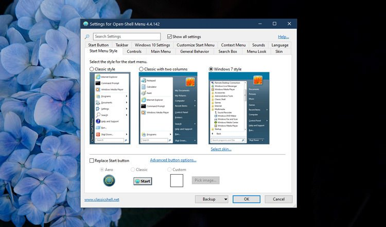 Change the appearance of the Start menu in Windows 10