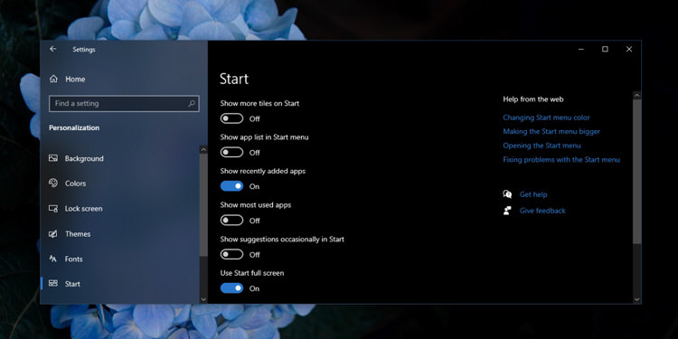 Delete the list of applications and keep the tiles in the Start menu