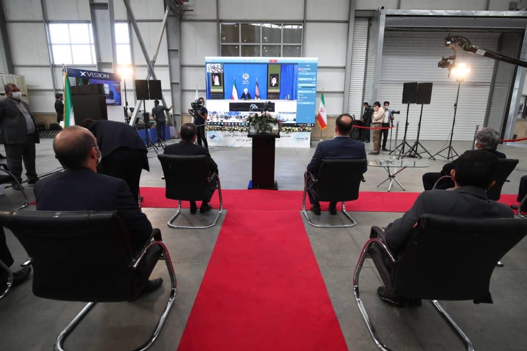 افتتاح کارخانه لوازم خانگی مادیران توسط رئیس جمهور در ویدیو کنفرانس