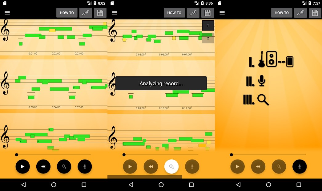 اسکرین شات اپلیکیشن Note Recognition - Convert Music into Sheet Music