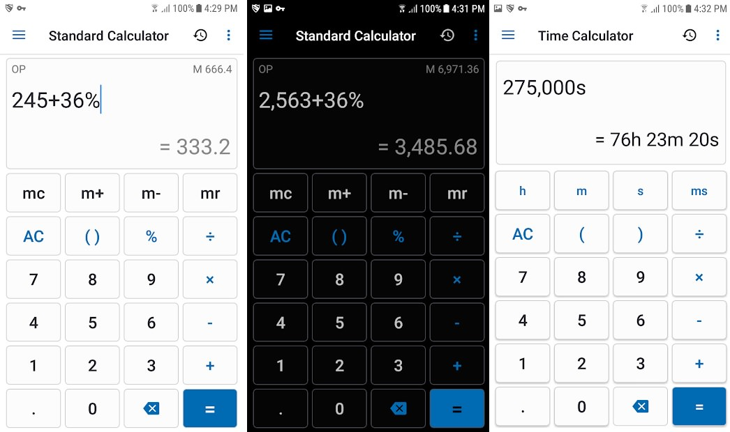 اسکرین شات اپلیکیشن NT Calculator - Extensive Calculator Pro