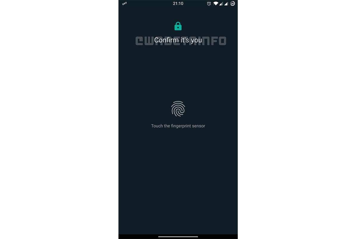 حسگر اثر انگشت واتساپ / WhatsApp Fingerprint Log in