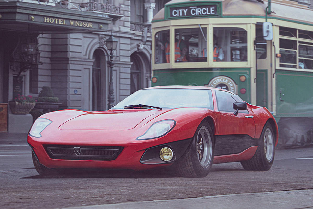 rimac concept one 1960s render / رندر ریمک کانسپت وان