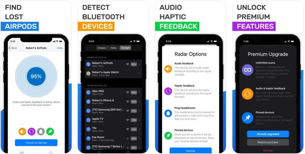 اپلیکیشنAirpod tracker: Find Airpods