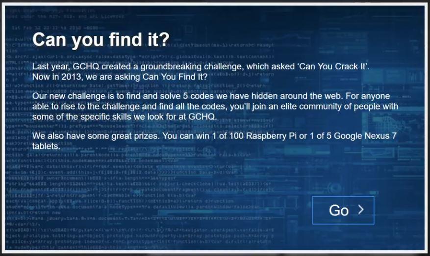 سیکادا ۳۳۰۱: معمای GCHQ