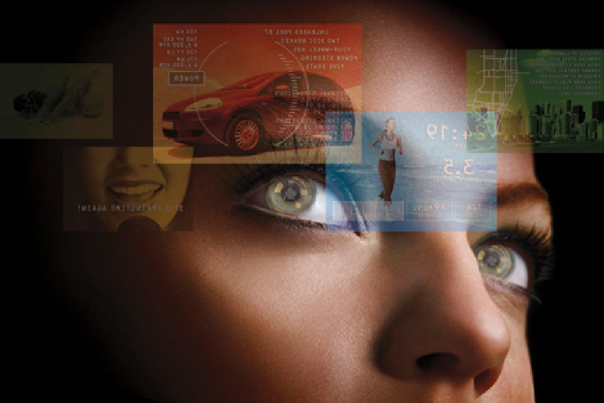تصویری مفهومی از فناوری ردیابی چشم