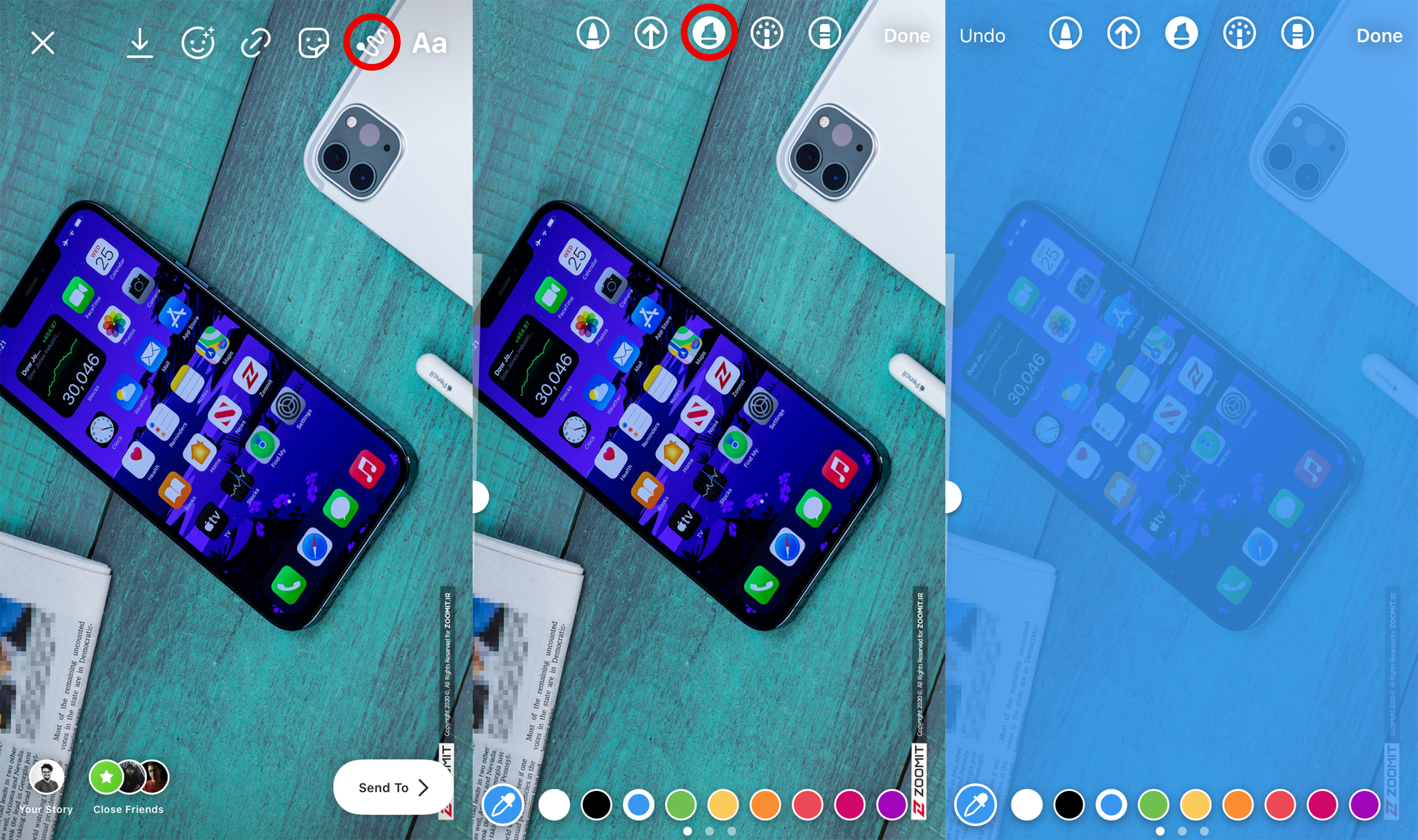 Learn how to create a colorful background with low transparency in your Instagram story