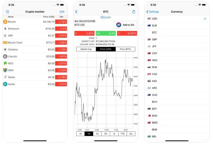 اپلیکیشن Crypto Monitor