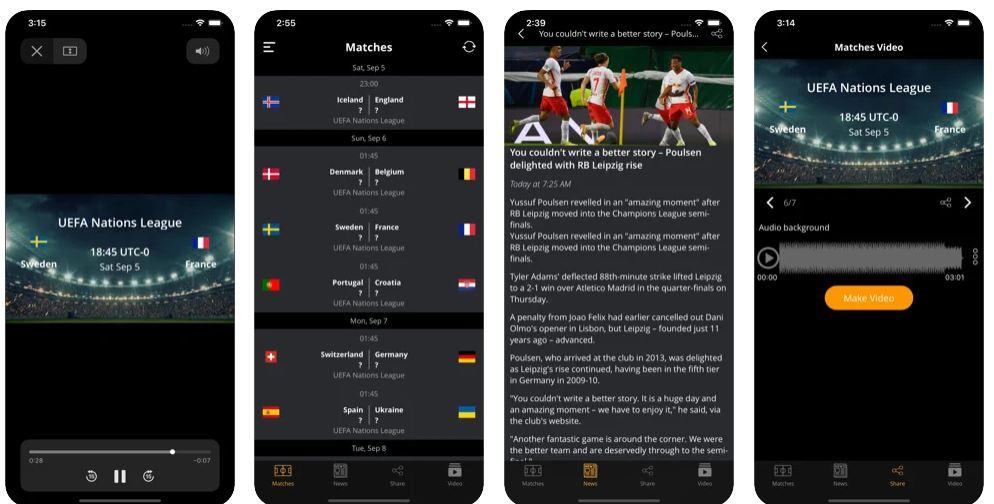 اپلیکیشن Footbal Today - Top Matches