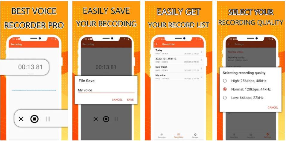 اپلیکیشنHD voice recoder pro