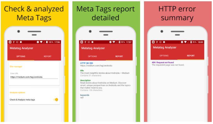 اپلیکیشن Metatag Analyzer