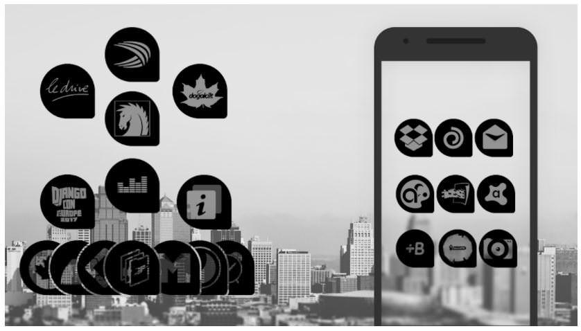 اپلیکیشن Oscuro Icon Pack