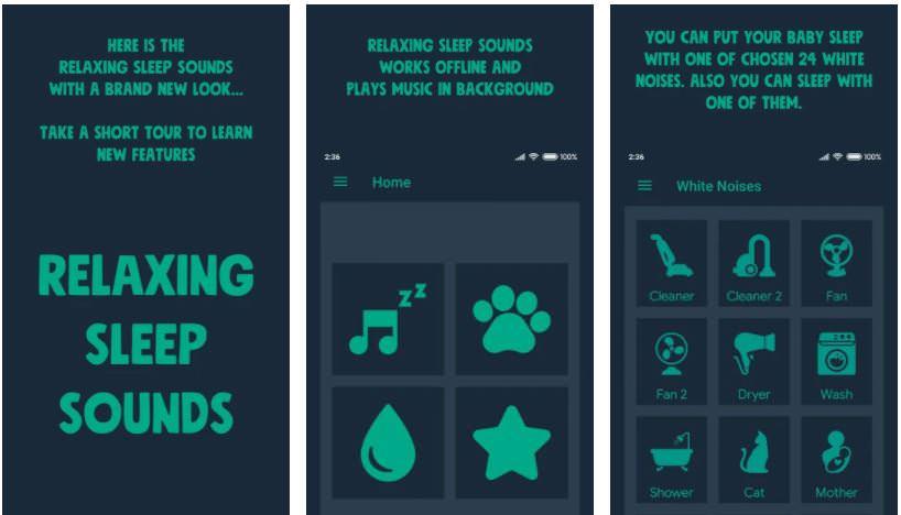 اپلیکیشنRelaxing Sleep Sounds PRO
