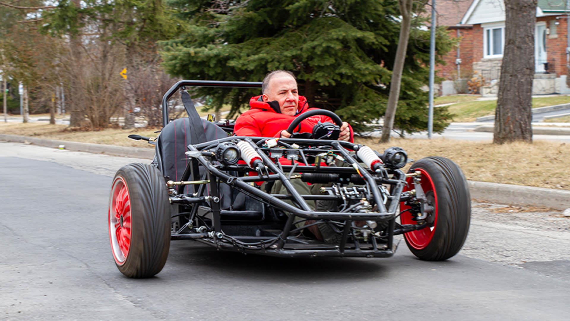 نمونه اولیه خودروی الکتریکی سه چرخ دیمک اسپریتوس / Daymak Spiritus three-wheeled EV