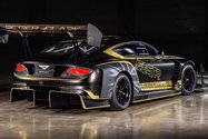 نمای سه چهارم عقب بنتلی کنتیننتال جی تی 3 پایکز پیک / Bentley Continental GT3 Pikes Peak سیاه رنگ