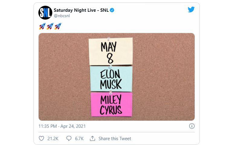 توییت برنامه Saturday Night Live در مورد حضور ایلان ماسک