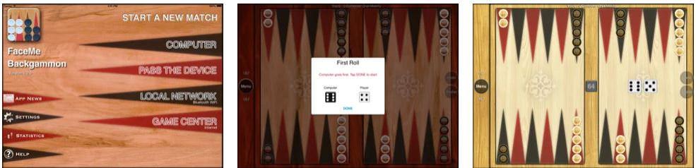 بازی FaceMe Backgammon