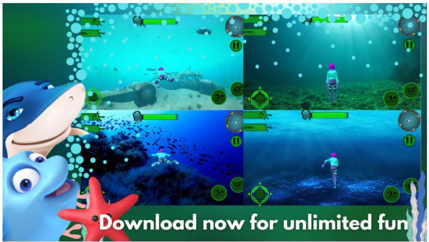 بازی Underwater Aqua Queen Master 3D