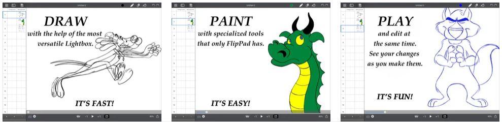 اپلیکیشن DigiCel FlipPad Animation