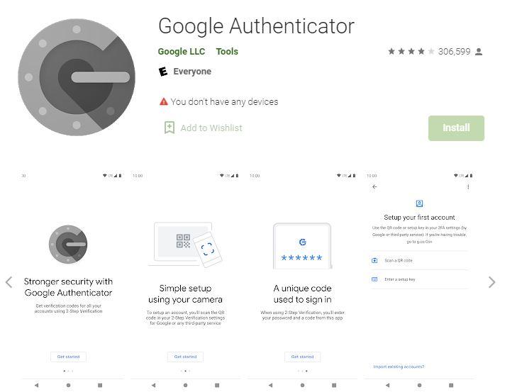 اپلیکیشن اندروید google authenticator