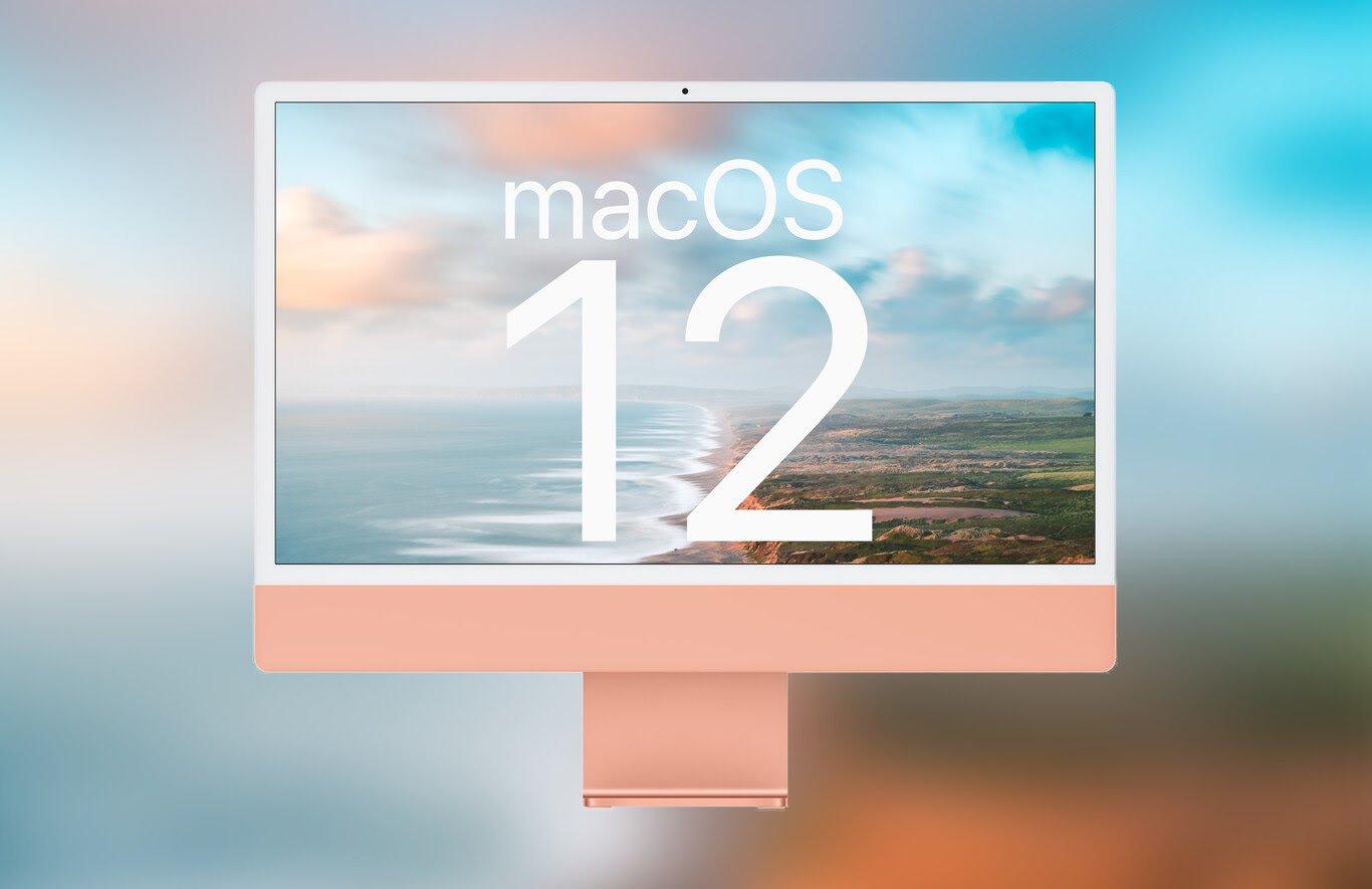 نمایی از آیمک ۲۴ اینچی و MacOS 12