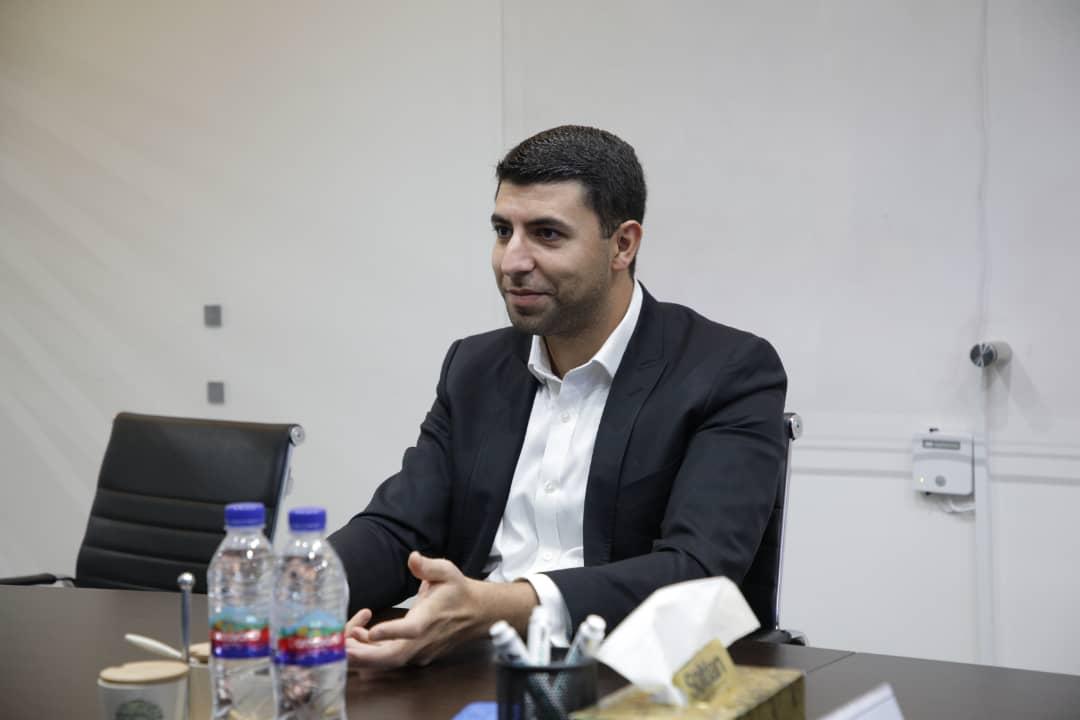 مهدی نایبی، مدیرعامل الوپیک درحال صحبت