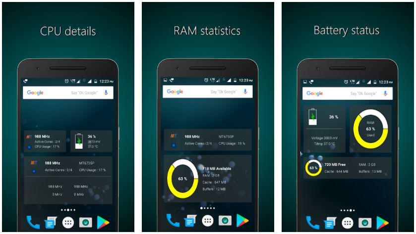 اپلیکیشن Widgets - CPU | RAM | Battery