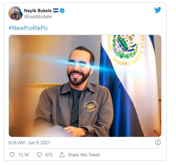 توییت رییس جمهور السالوادور