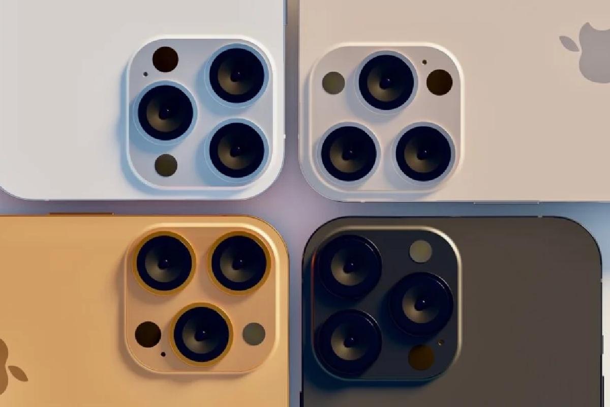 رندر منتسب به چهار گزینهی رنگی آیفون ۱۳ پرو