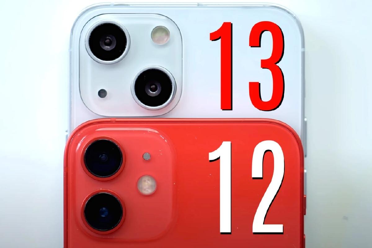 چینش دوربین آیفون ۱۳ و آیفون ۱۲
