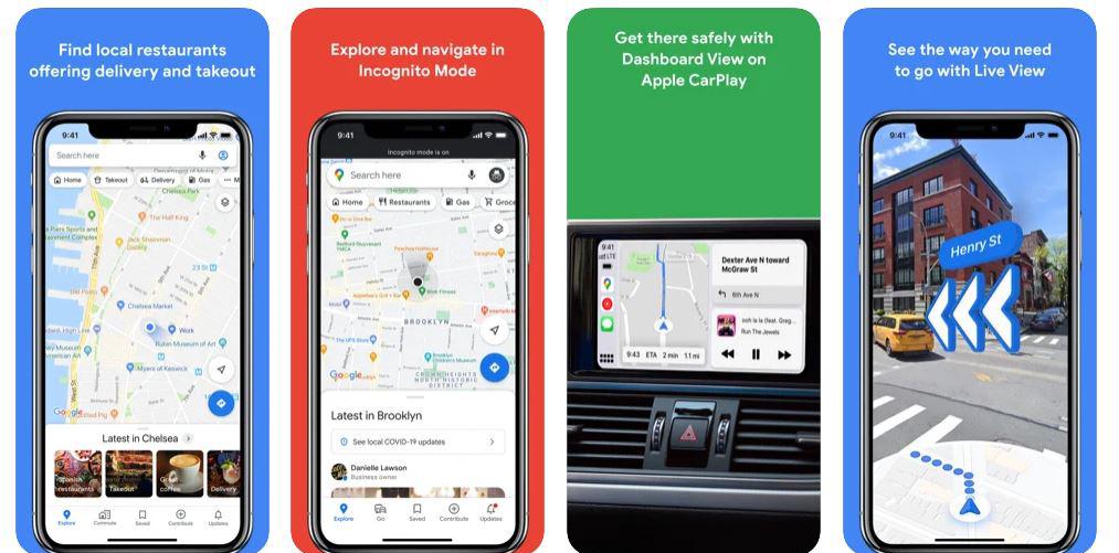 بهترین اپلیکیشن آیفون google-map